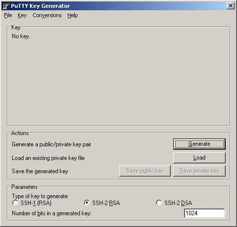 Der PuTTY Key Generator