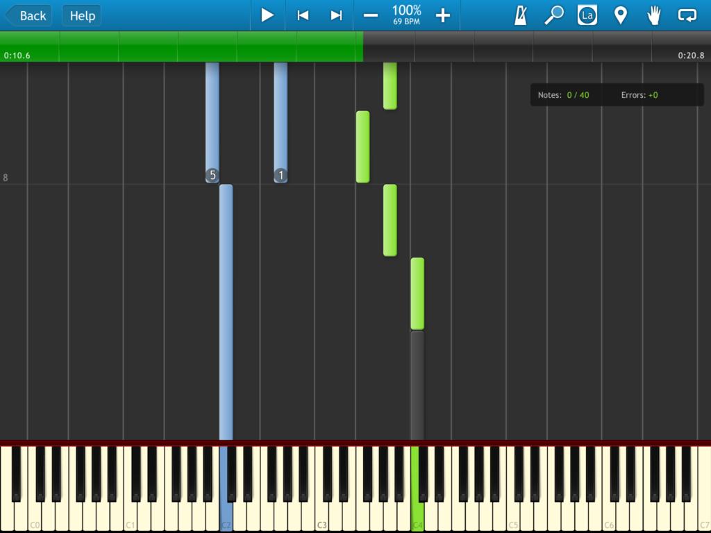 Synthesia auf dem iPad