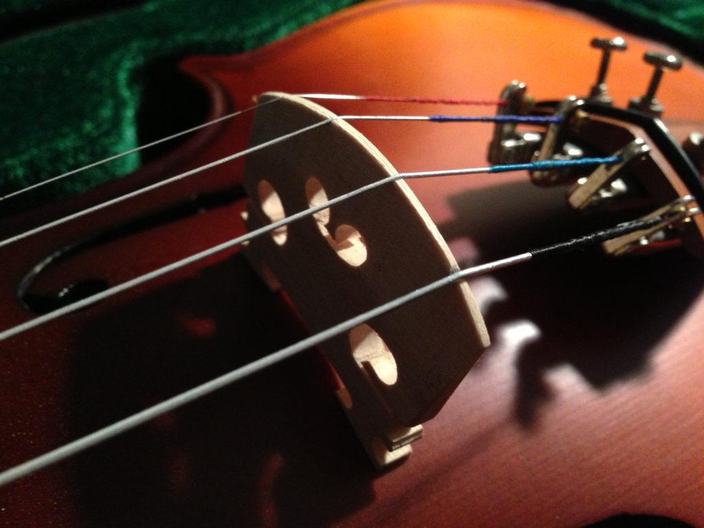 Die Violine und ihr Steg