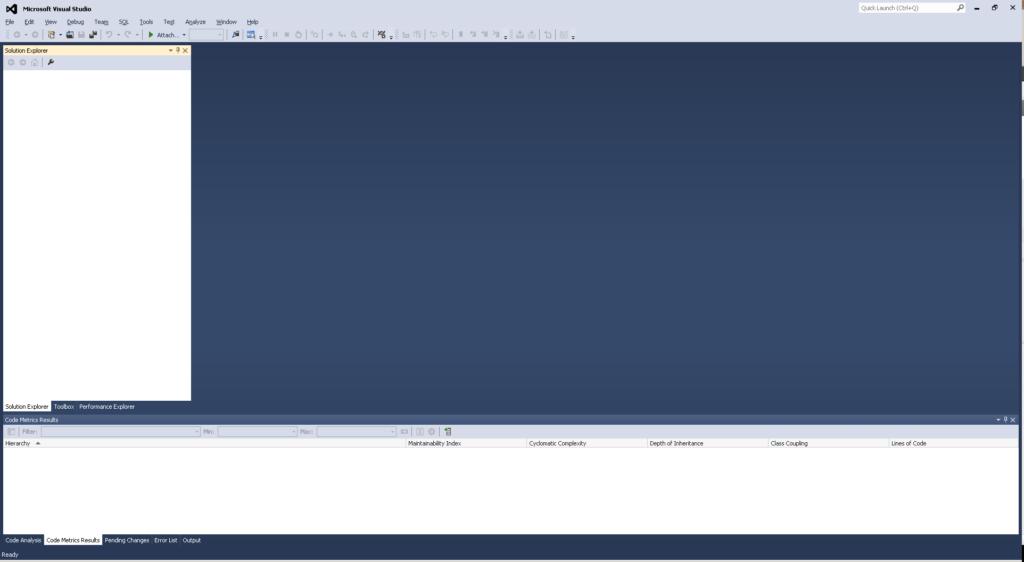 """Das Visual Studio 2012 nach einigen """"Tuning""""-Maßnahmen"""