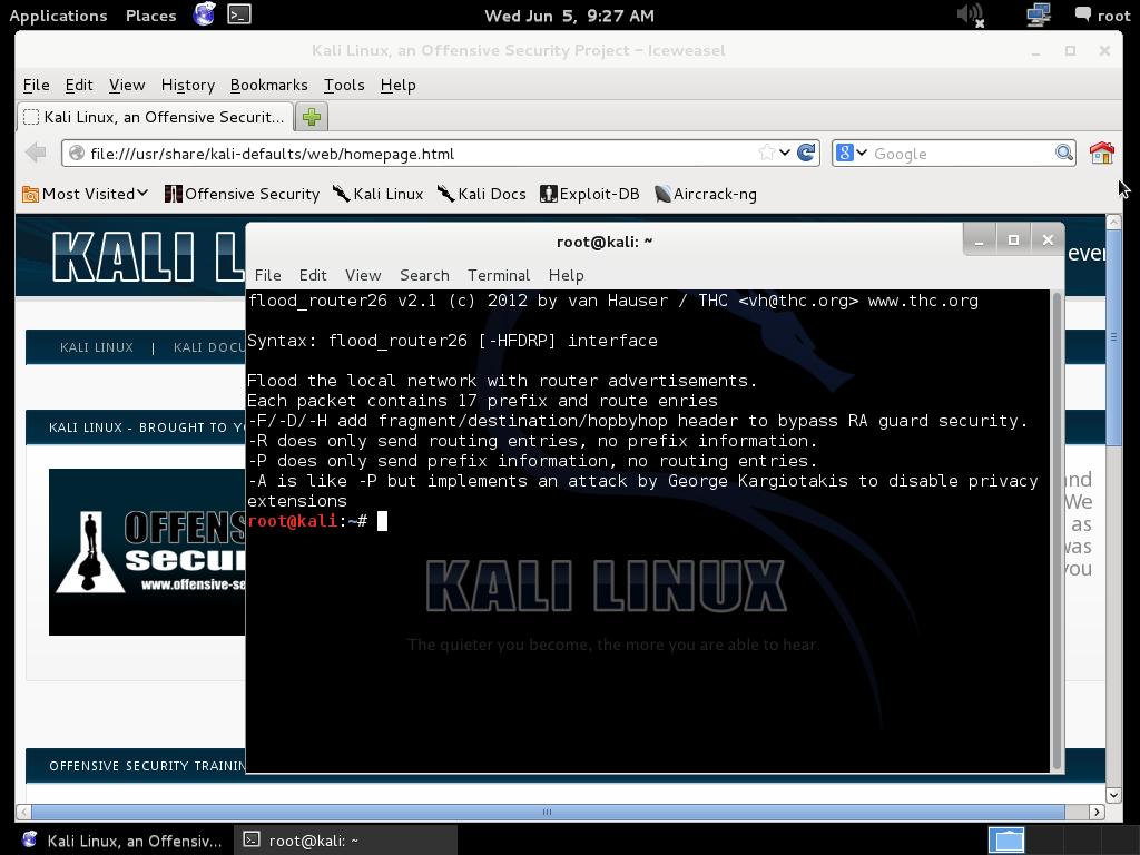 Kali Linux mit GNOME