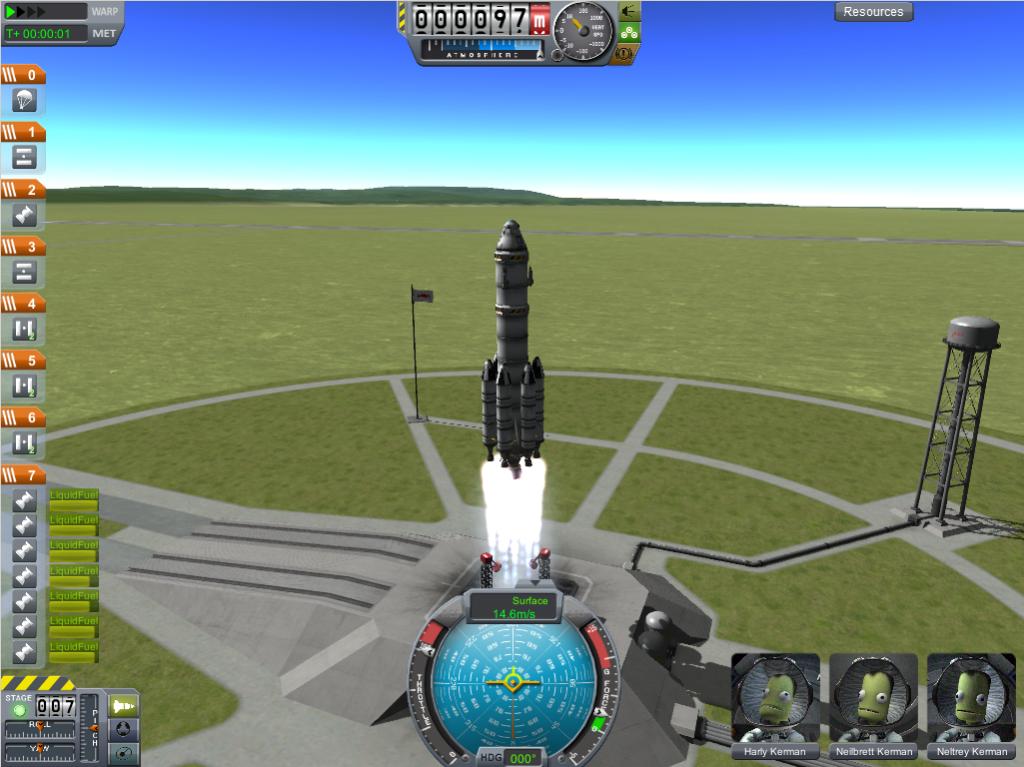 Eine Rakete beim Start