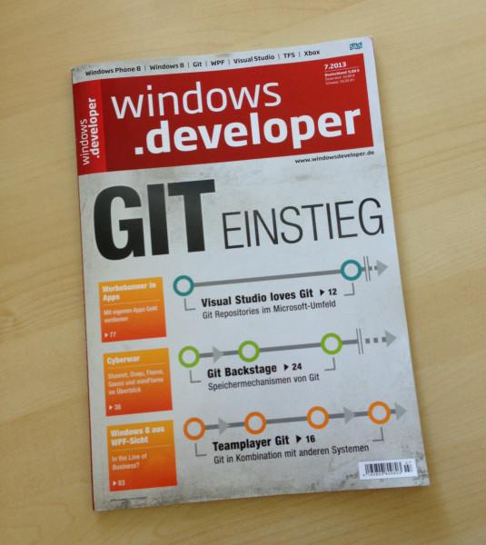 Die aktuelle Ausgabe von Windows Developer