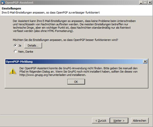 Der OpenPGP Assistent