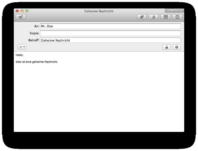 Apple Mail mit der GPGMail Erweiterung