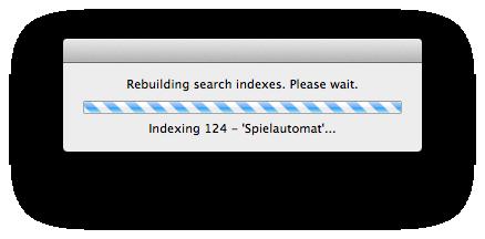 Der Index wird neu aufgebaut