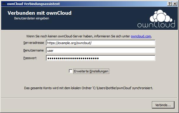 Die Servereinstellungen von ownCloud