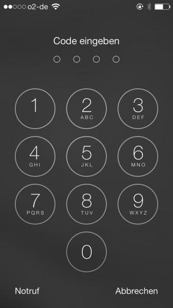 Die Codeeingabe ist sicherer als der Fingerabdruck