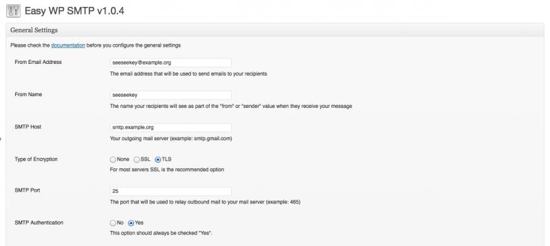 Die Einstellungen des Plugins Easy WP SMTP
