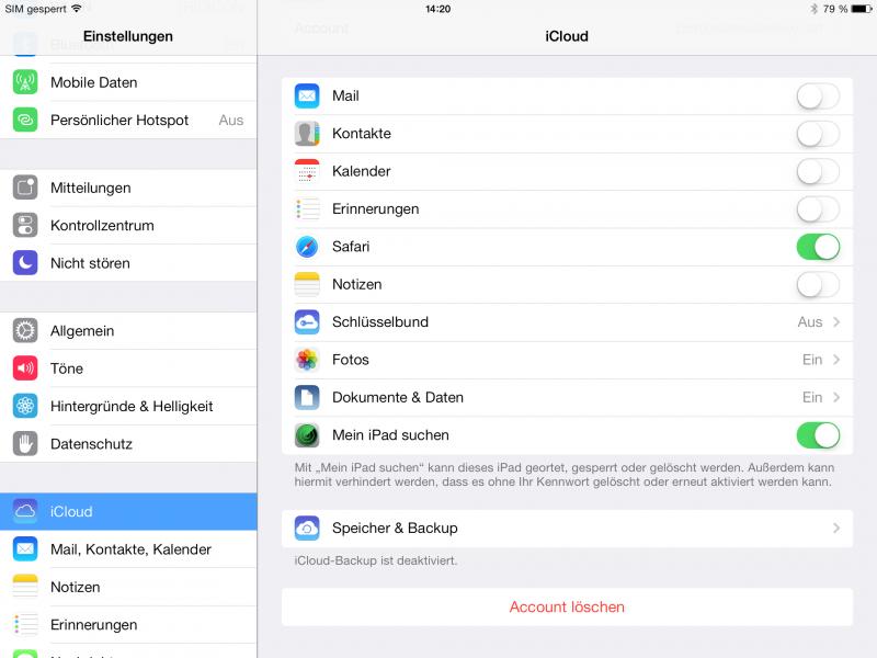Die iOS 7 Einstellungen