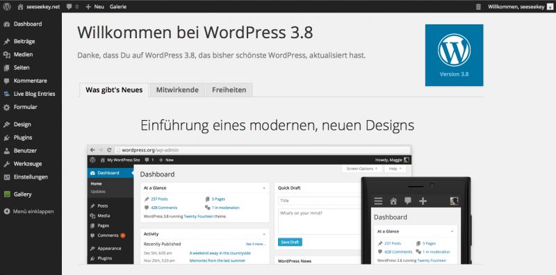 Das überarbeitete WordPress-Backend