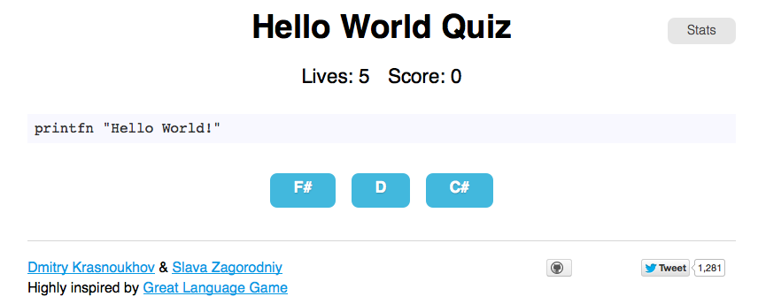 Hello World Quiz