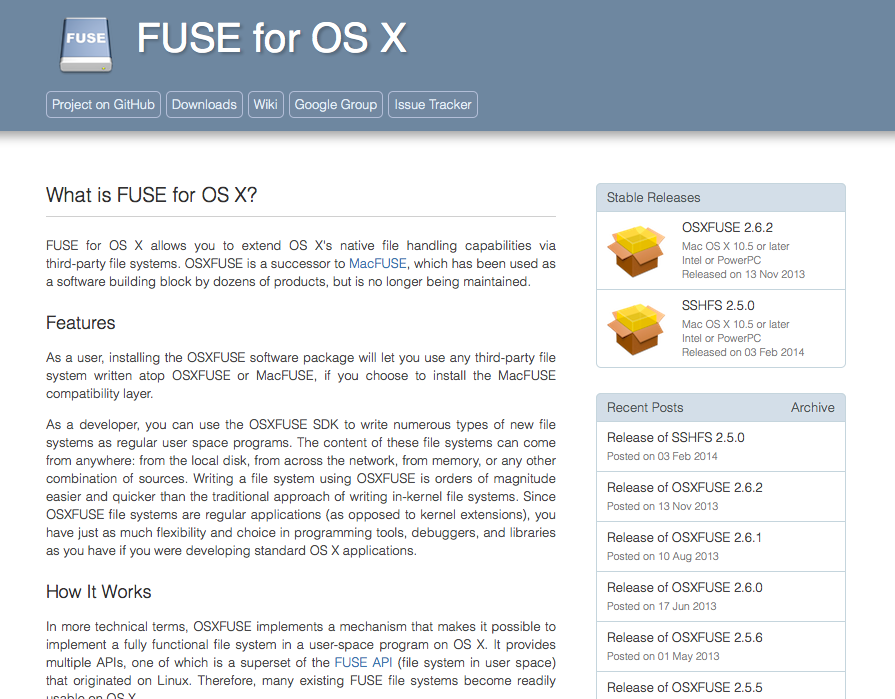 File system support: Ubuntu vs. OS X.