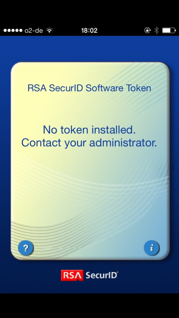 Die App RSA SecurID