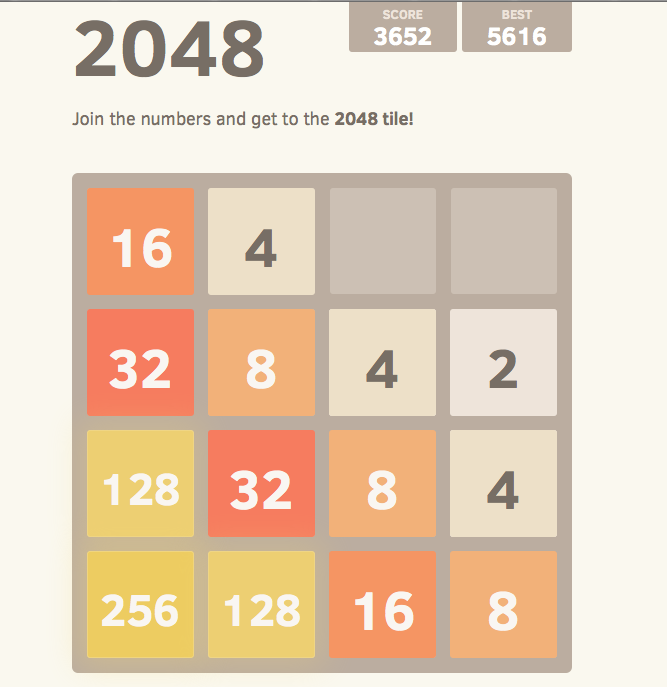 2048 in Aktion