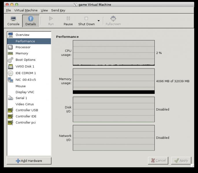 Der Virtual Machine Manager unter Mac OS X