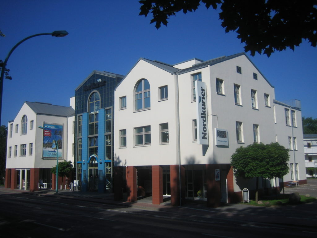 Der Sitz des Nordkuriers - der lokalen Tageszeitung im Bereich Neubrandenburg