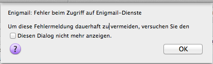 Enigmail bekommt Probleme