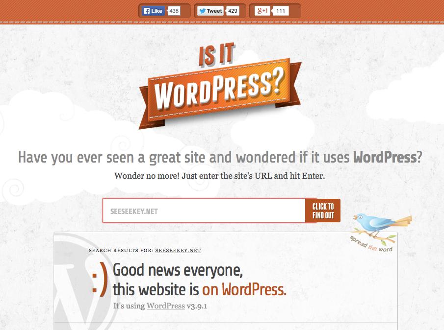 Is It WordPress? in Aktion