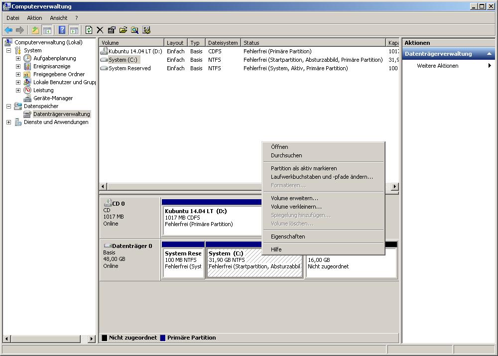 Die Computerverwaltung unter Windows 7