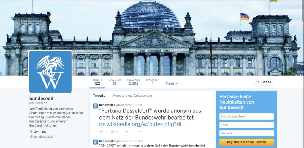Der Bundesedit Twitter-Account