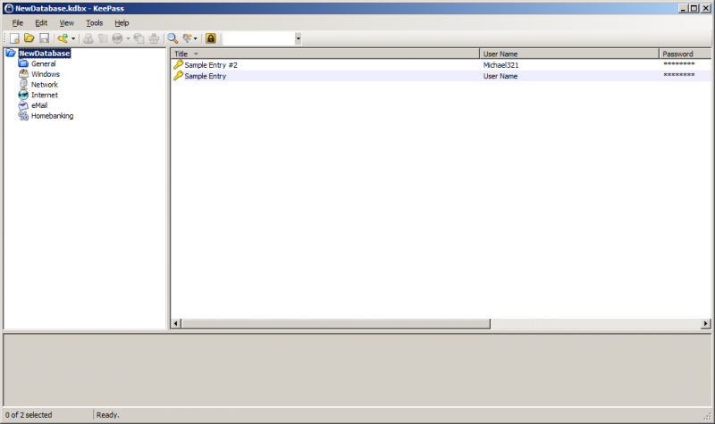 KeePass in der 2er-Version
