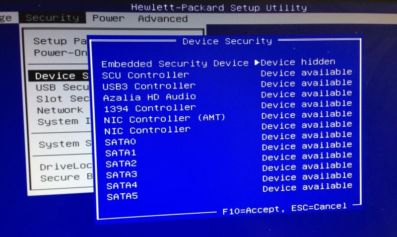 Die Einstellungen im BIOS der Workstation