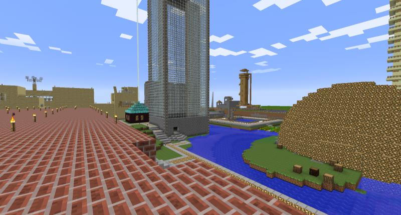 In vielen Minecraft-Welten gibt es eine Menge Bauwerke, welche als 3D-Druck eine gute Figur machen