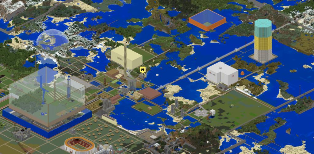 Eine von vielen Minecraft-Welten