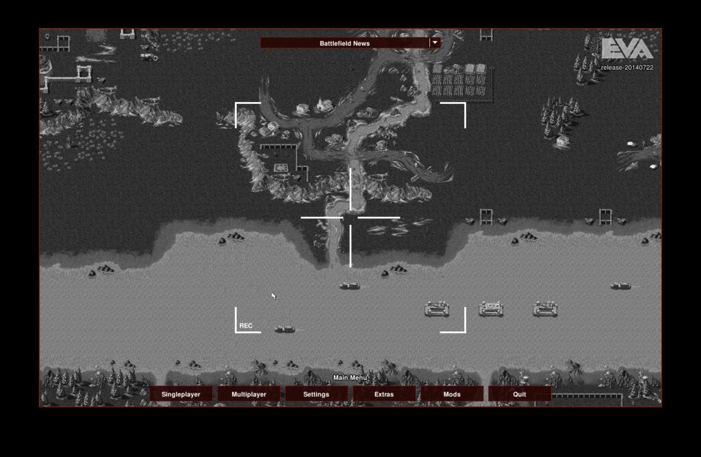 Der Titelschirm von OpenRA