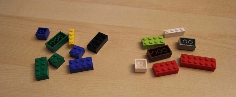 Links: QUIX - Rechts: LEGO