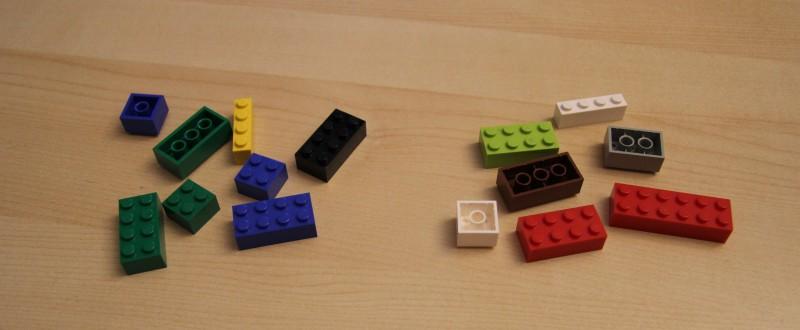 Links: QUIX - Rechts: LEGO