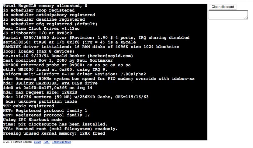 Der Emulator bootet ein Linux