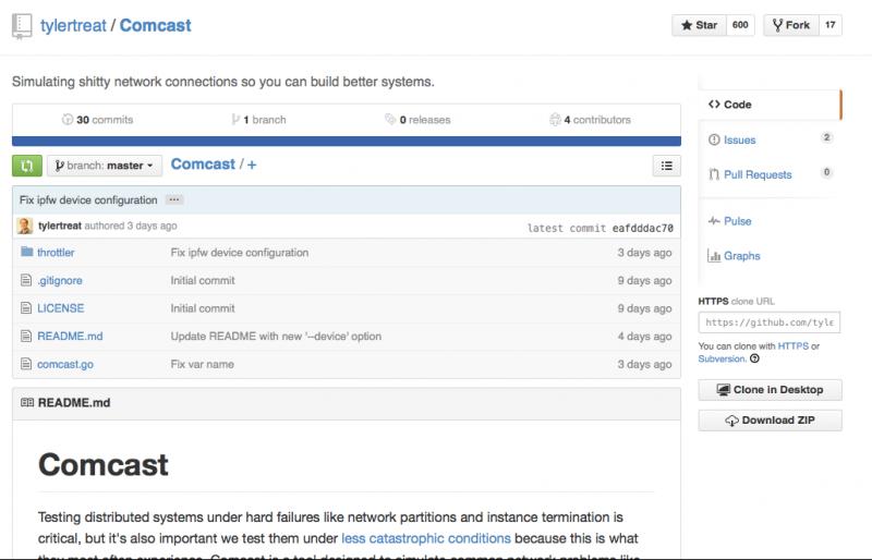 Comcast auf GitHub