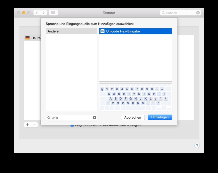 Die Tastatur-Einstellungen