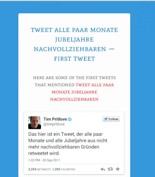 First Tweet an einem Beispiel