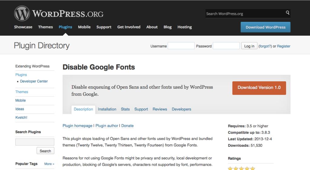 Das Plugin im WordPress Plugin Repository