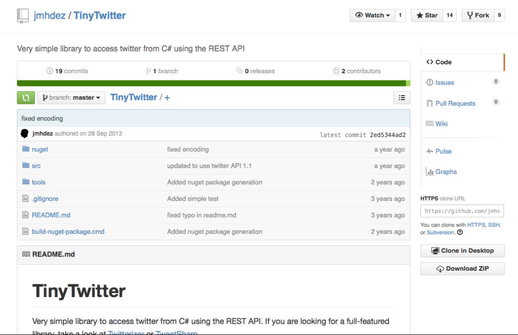 TinyTwitter auf GitHub