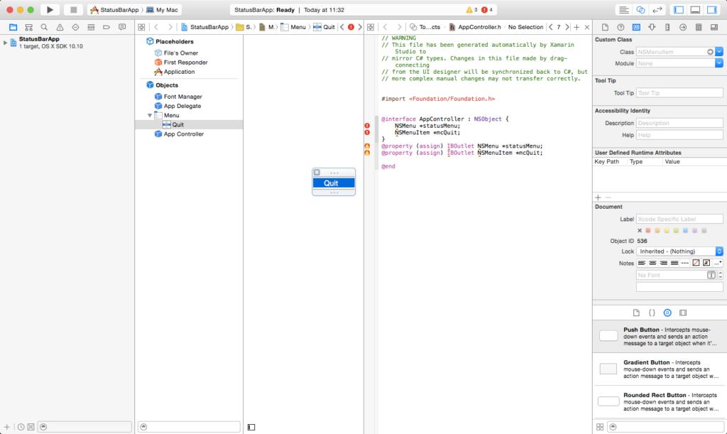 Das Design unter Xcode