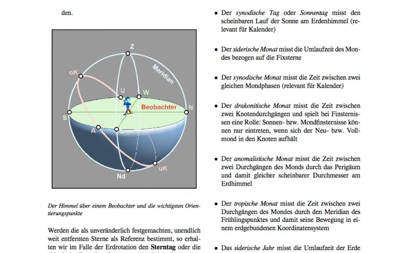 Auszug aus dem Wikibook Astronomische Berechnungen für Amateure
