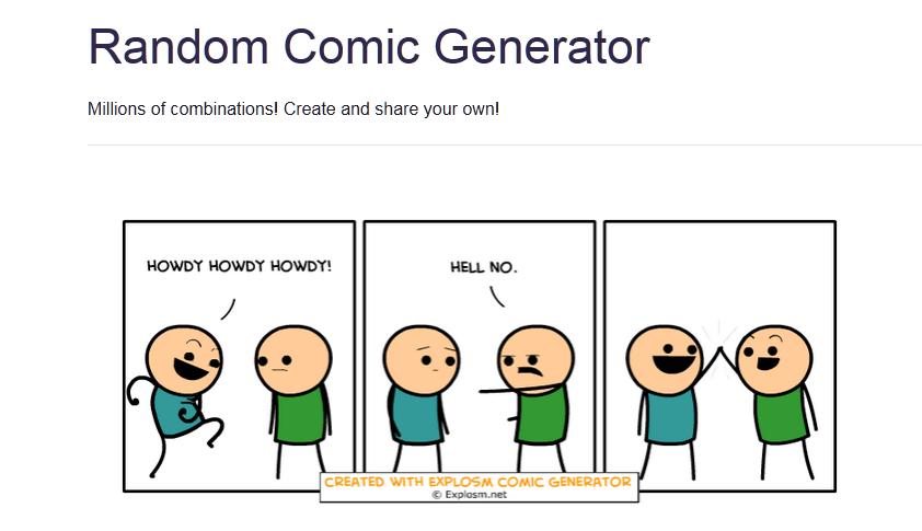 Ein mit dem Random Comic Generator erzeugter Comic