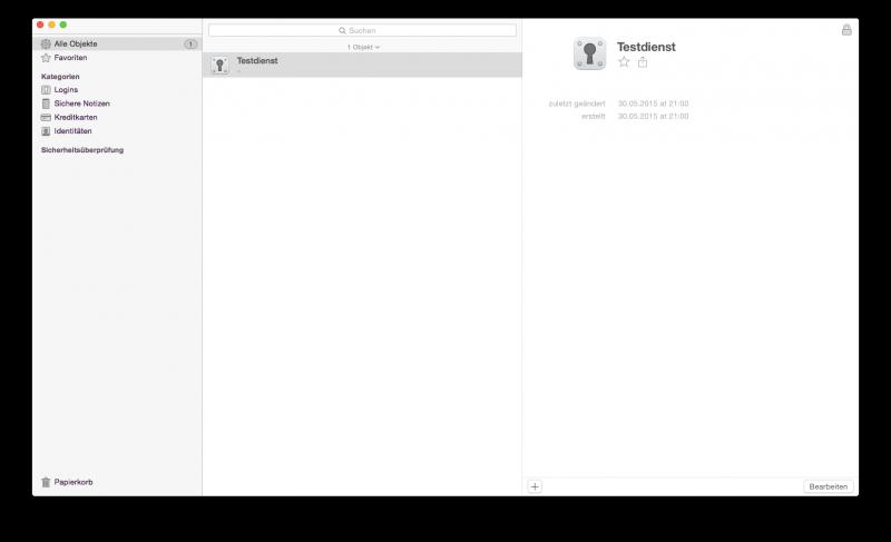 1Password unter Mac OS X