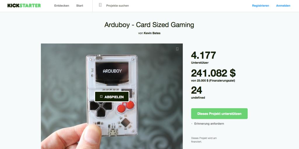 Der ArduBoy auf Kickstarter
