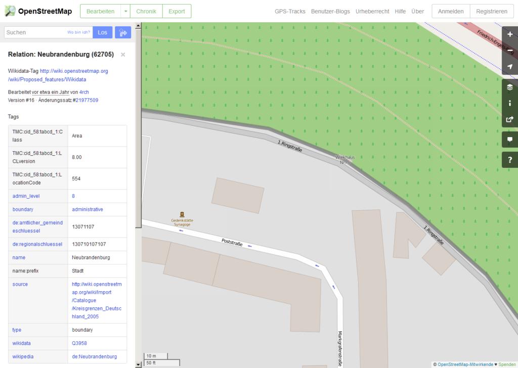 Das Wiekhaus des Vereines auf OpenStreetMap