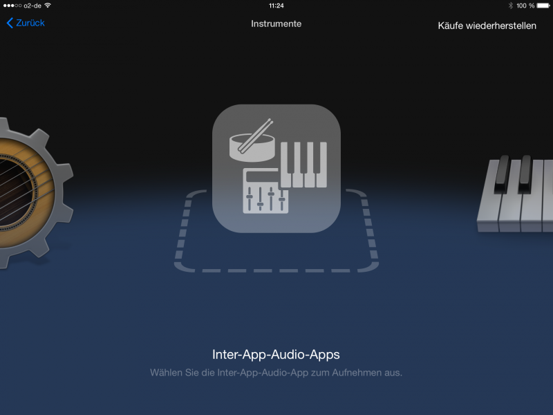 Die Inter-App-Audio-Verbindung in Garageband