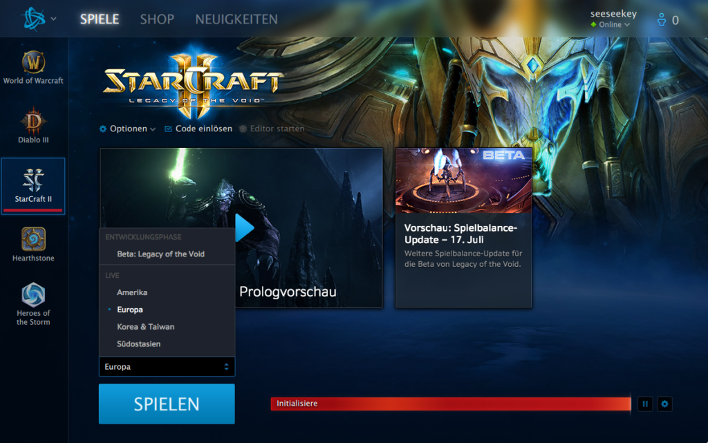 Der Battle.net Starter