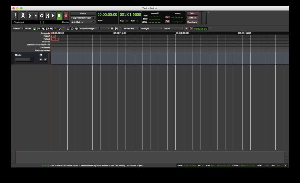 Ardour 4 unter Mac OS X
