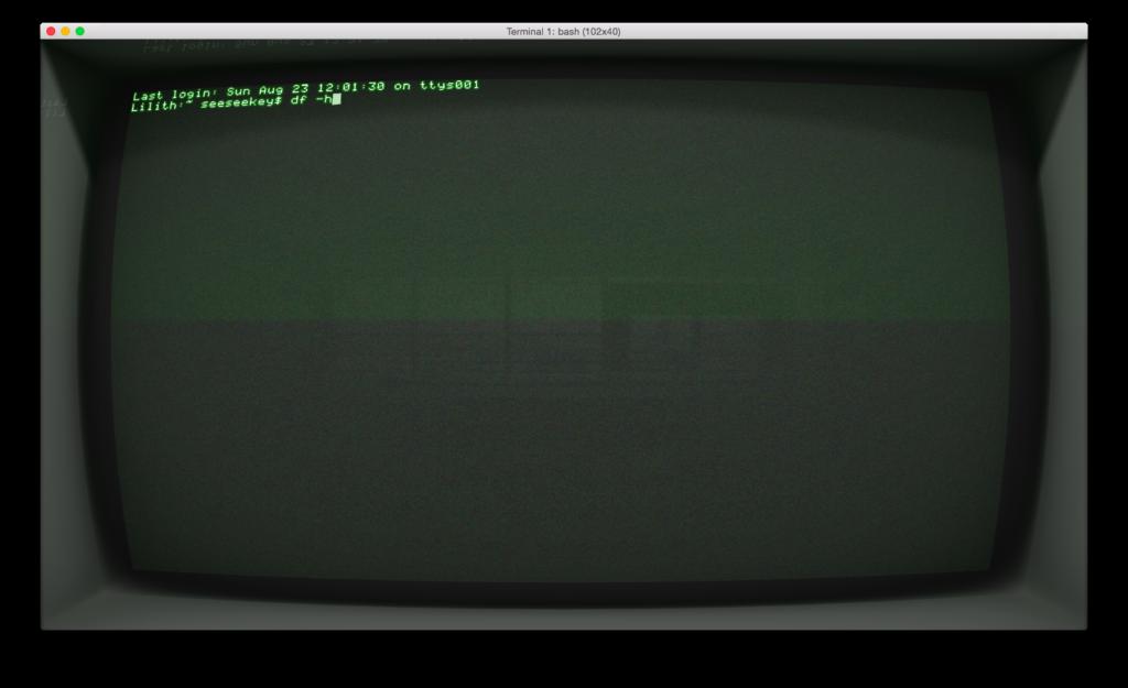 Cathode unter Mac OS X im Fenstermodus