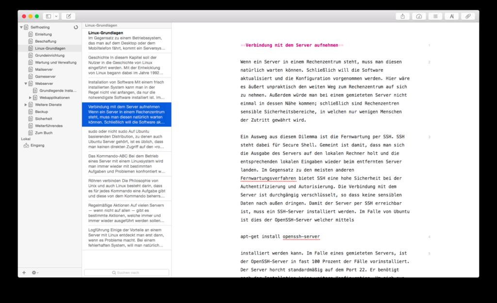 Ulysses unter Mac OS X