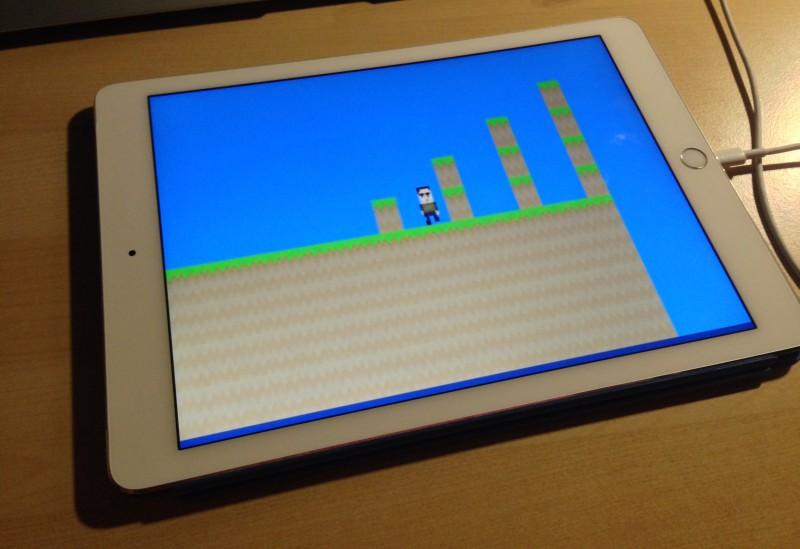 Unity Remote 4 mit den Inhalten des Spieles